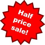 Half price sale!